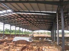 长沙县820型暗扣式彩钢瓦应用案例_干杉钢结构厂房