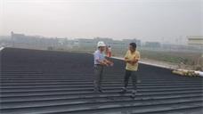湖南yx65/430型铝镁锰板应用_雷峰第二小学校网架屋面板