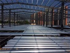 长沙楼承板应用案例_长沙雨花区桃花村钢结构厂房