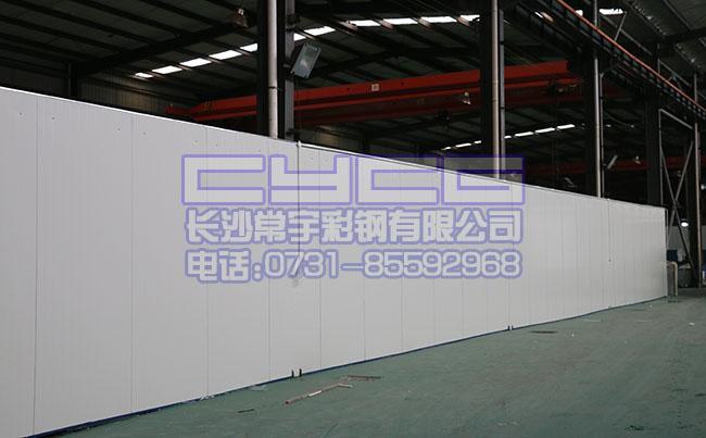 长沙夹芯板应用:厂房隔断(幕墙夹芯板)