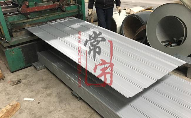 900型银灰大小边彩钢瓦