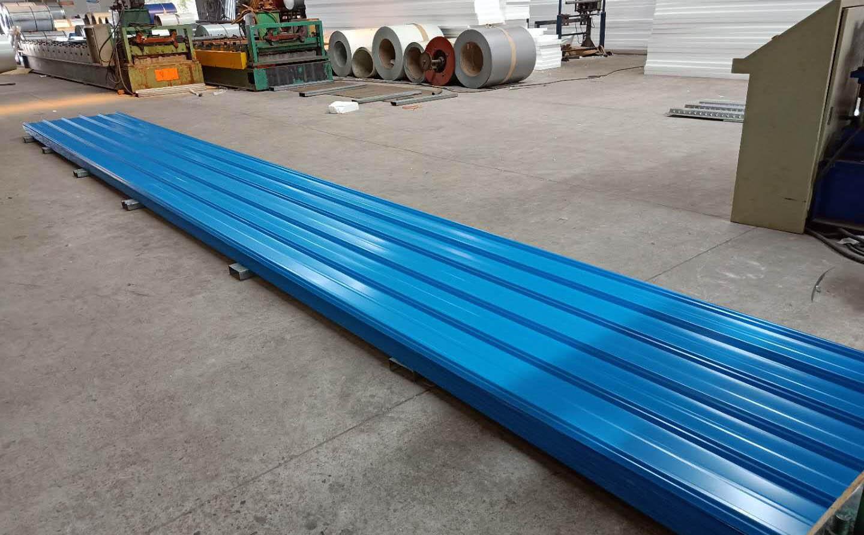 常宇-1025型彩钢瓦0.6mm天蓝