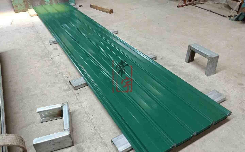 820型搭接式彩钢瓦0.5军绿